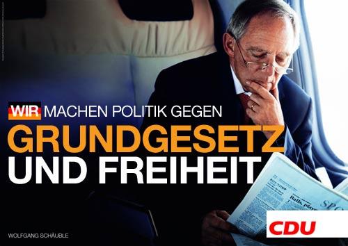 CDU - gegen Grundgesetz und Freiheit