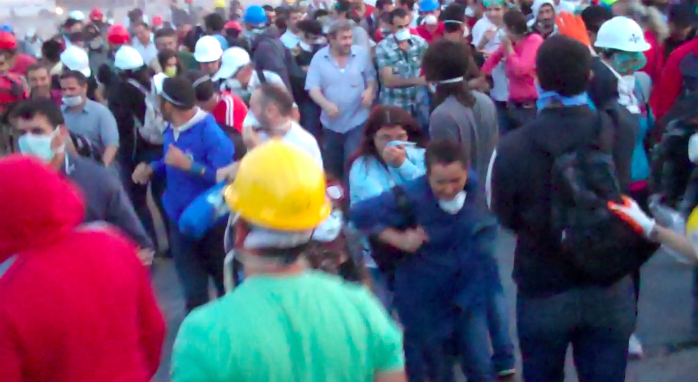 Flucht durch den Gezi-Park