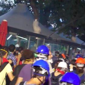 Tränengasangriff