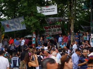 Versammlung am Gezi-Park