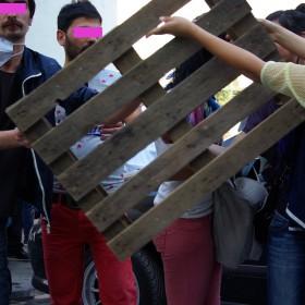 Barrikadenbau