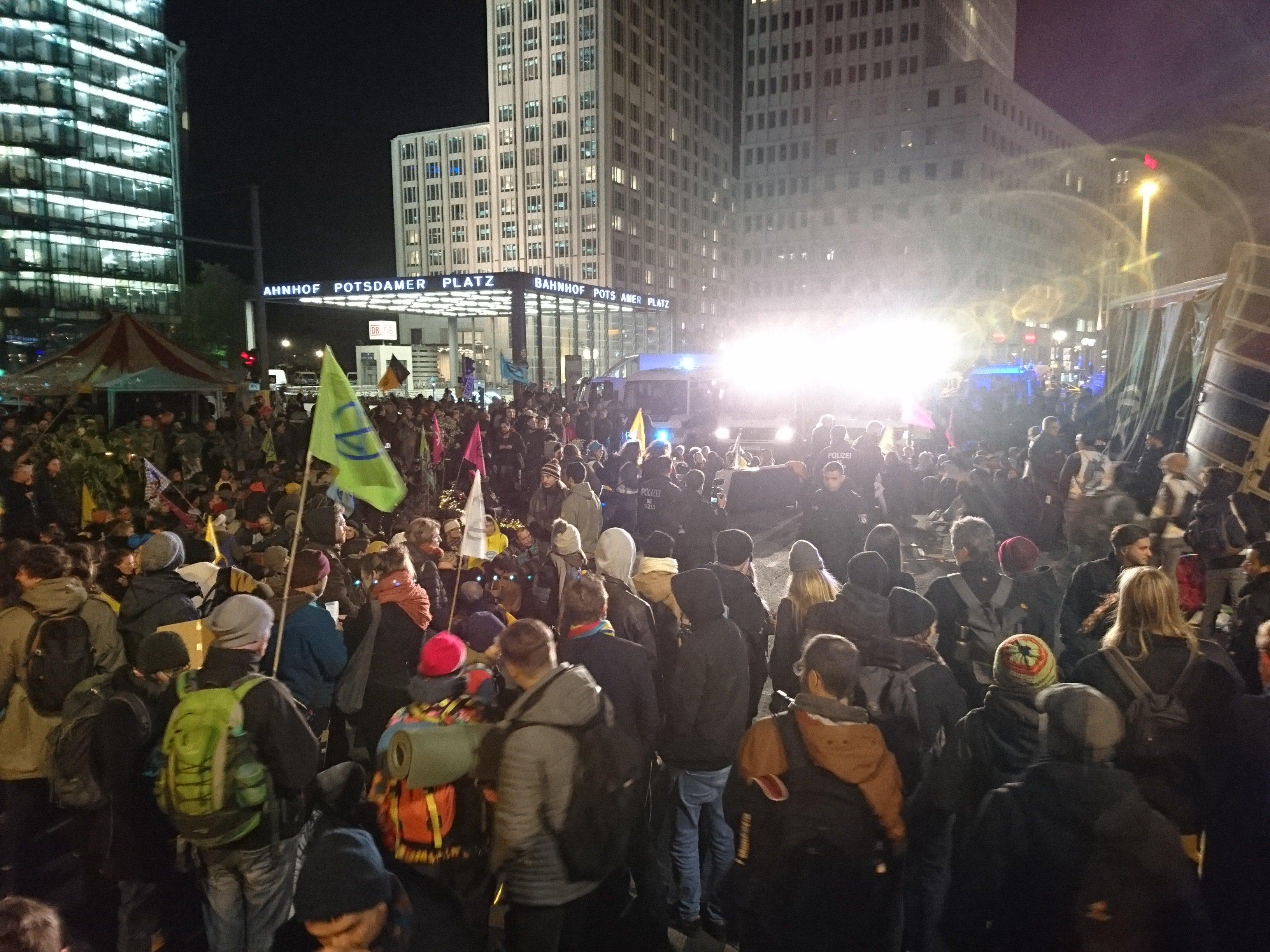 Besetzung am Potsdamer Platz